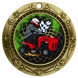 "3"" WCM Full Color Tractor Race Medal"