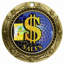 "3"" WCM Full Color Sales Medal WCMB-FCL532"