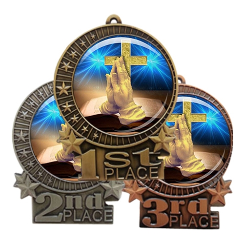 "3"" Religious Medal with Epoxy Dome XMD-D75"