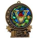 "3"" Holographic Diamond Victory Medals XMD700-DM465"