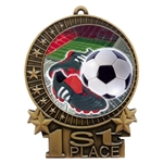 "3"" Full Color Soccer Cleat Medals"