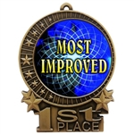 "3"" Full Color Most Improved Medals"
