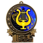 "3"" Full Color Music Lyre Medals"