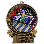 "3"" Full Color Pinewood Derby Medals"