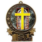"3"" Full Color Religious Cross Medals"
