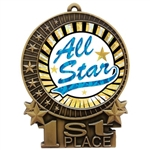 "3"" SUN All Star Medals"