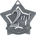 "2-1/4"" Star Series Second Place Medal XS202"