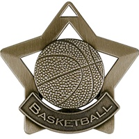 "2-1/4"" Star Series Basketball Medal XS205"