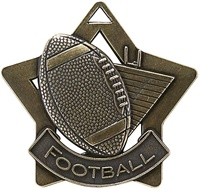 "2-1/4"" Star Series Football Medal XS207"