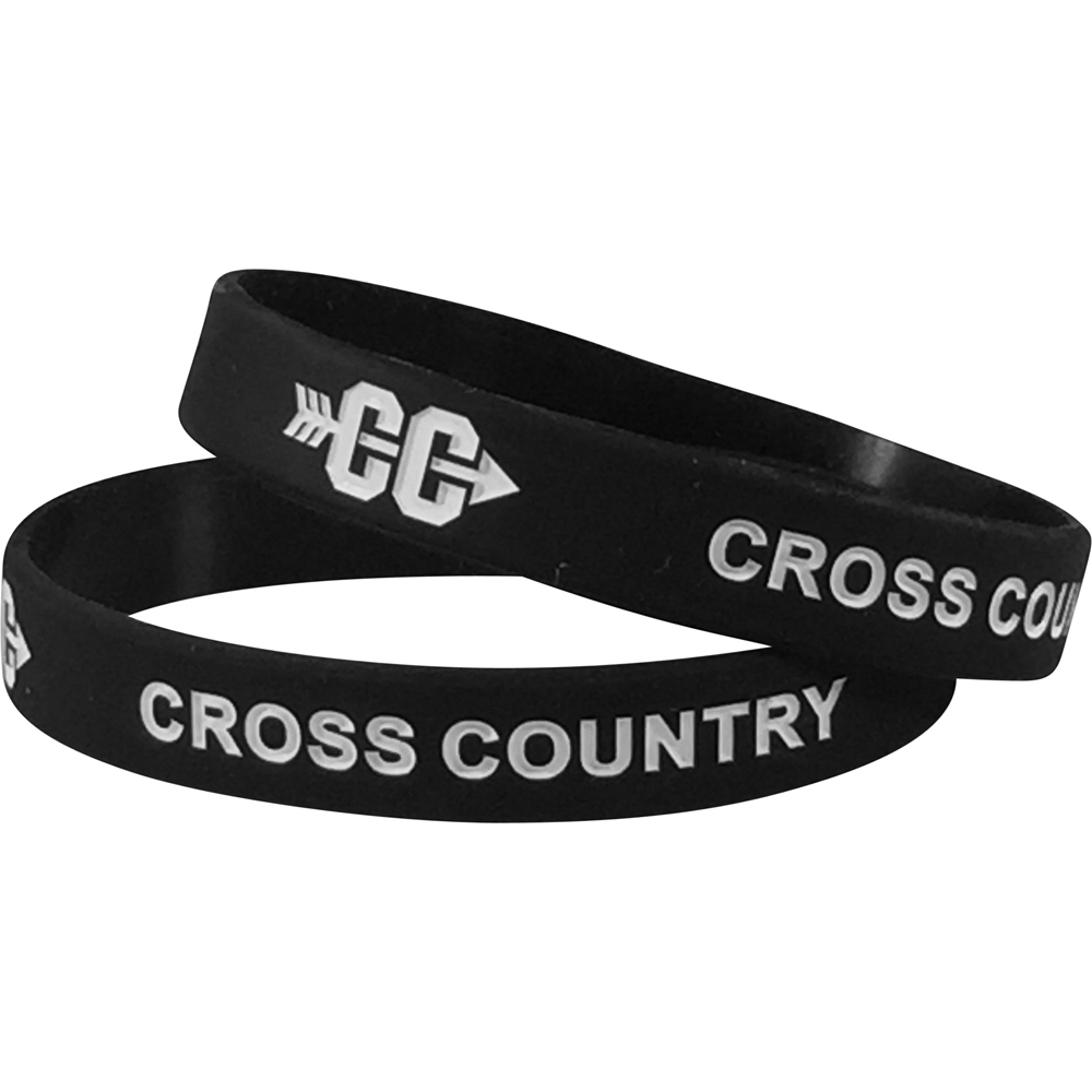Silicone Cross Country Wrist Band