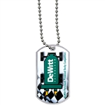 "2""x1-1/8"" CUSTOM Dog Tag w/24"" Ball Chain sl-DT1"