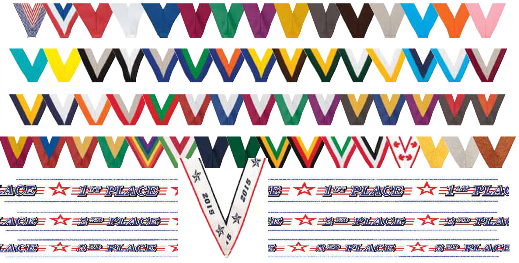 Gem medals red white blue stones express medals see std ribbon chart nvjuhfo Choice Image