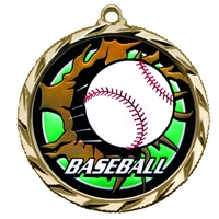 "2-1/4"" Bright Edge Blast Baseball Medal 022-BM-205"