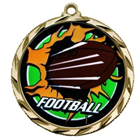 "2-1/4"" Bright Edge Blast Football Medal 022-BM-225"