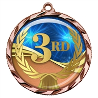 "2-1/4"" 3rd Place Medal with Epoxy Dome 022-D03"