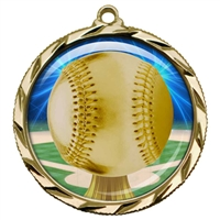 "2-1/4"" Baseball Medal with Epoxy Dome 022-D05"