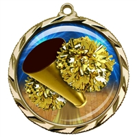 "2-1/4"" Cheerleading Medal with Epoxy Dome 022-D15"