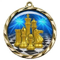 "2-1/4"" Chess Medal with Epoxy Dome 022-D17"