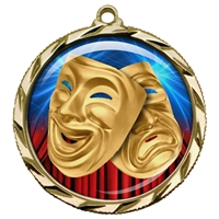 "2-1/4"" Drama Medal with Epoxy Dome 022-D19"