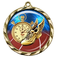 "2-1/4"" Track Medal with Epoxy Dome 022-D35"