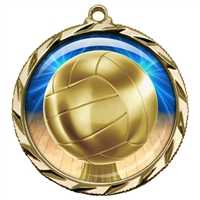 "2-1/4"" Volleyball Medal with Epoxy Dome 022-D45"