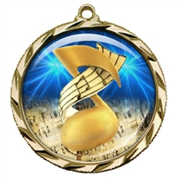 "2-1/4"" Music Medal with Epoxy Dome 022-D55"