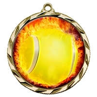 Flame Tennis Medal