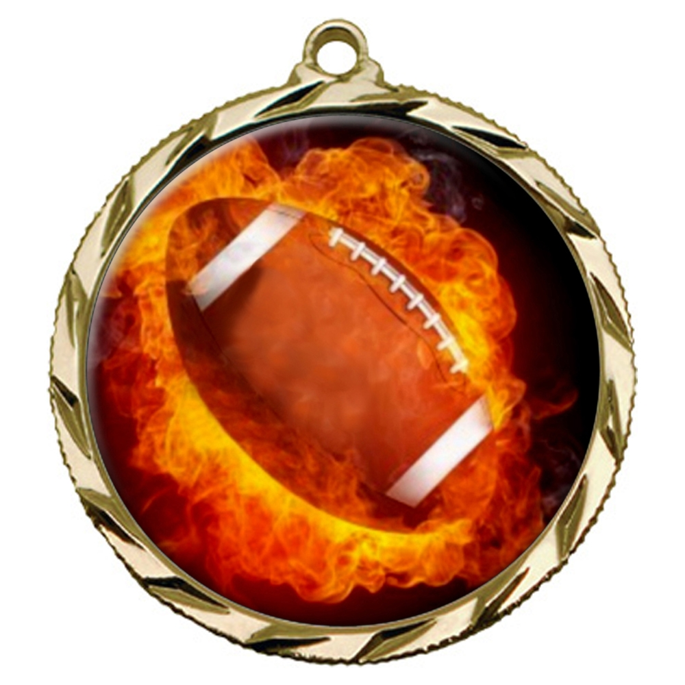 Flame Football Medal