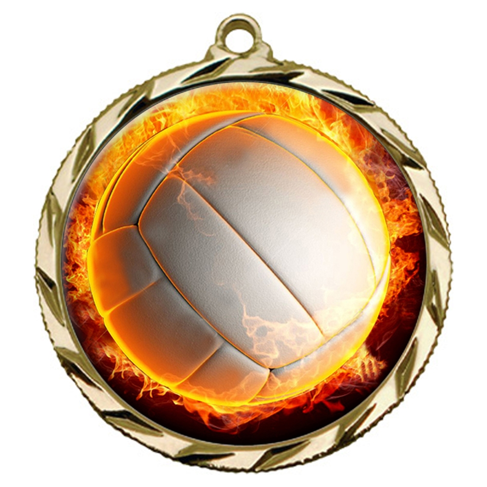 Flame Volleyball Medal