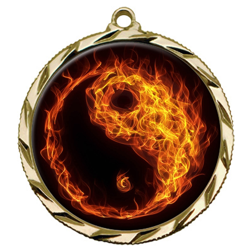 Flame Martial Arts Medal