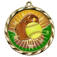 "2-1/4"" Bright Edge FCL Softball Medal 022-FCL138"