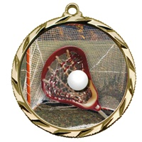 "2-1/4"" Bright Edge FCL Lacrosse Medal 022-FCL158"