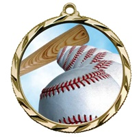 "2-1/4"" Bright Edge FCL Baseball Medal 022-FCL4"