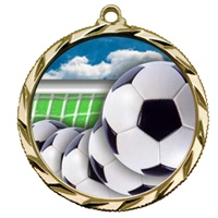 "2-1/4"" Bright Edge FCL Soccer Medal 022-FCL40"