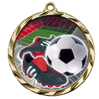"2-1/4"" Bright Edge FCL Soccer Ball Cleat Medal 022-FCL41"