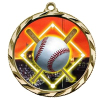 "2-1/4"" Bright Edge FCL Baseball Diamond Medal 022-FCL5"