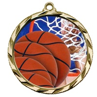 "2-1/4"" Bright Edge FCL Basketball Medal 022-FCL8"