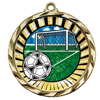 "2-1/4"" Bright Edge SUN Soccer Medal 022-MY332"