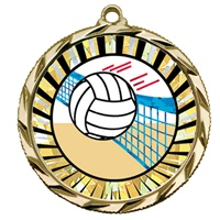 "2-1/4"" Bright Edge SUN Volleyball Medal 022-MY337"