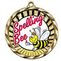 "2-1/4"" Bright Edge SUN Spelling-Bee Medal 022-MY353"