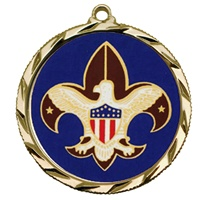 "2-1/4"" Bright Edge  Boy Scout Medal 022-Ol-3"