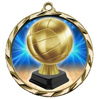 "2-1/4"" Bright Edge Volleyball Trophy Insert Medal 022-TI45"