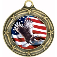 "3"" Star Full Color Eagle Medals 033A-FCL-191"