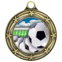 "3"" Star Full Color Soccer Ball Medals 033A-FCL-40"