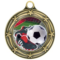 "3"" Star Full Color Soccer Cleat Medals 033A-FCL-41"