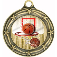 "3"" Star Full Color Basketball Medals 033A-FCL-411"
