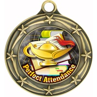 "3"" Star Full Color Perfect Attendance Medals 033A-FCL-422"