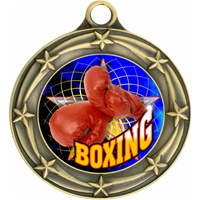 "3"" Star Full Color Boxing Medals 033A-FCL-430"