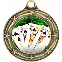"3"" Star Full Color Poker Medals 033A-FCL-432"
