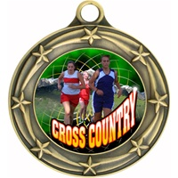 "3"" Star Full Color Female Cross Country Medals 033A-FCL-445"